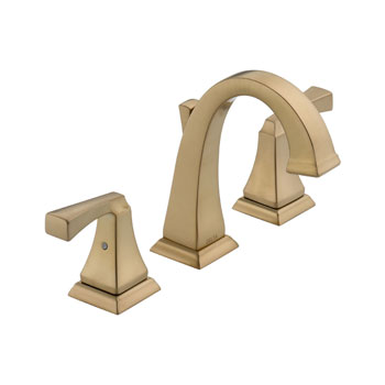 Delta 3551LF-CZ Dryden Two Handle Widespread Lavatory Faucet - Champagne Bronze