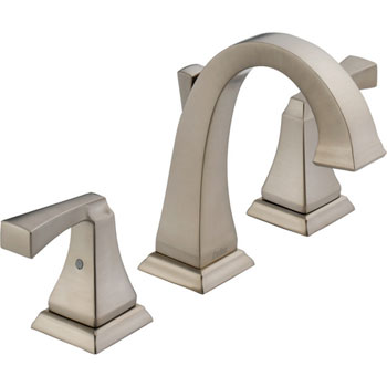Delta 3551LF-SS Dryden Two Handle Widespread Lavatory Faucet - Brilliance Stainless