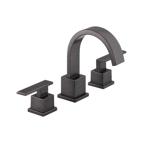 Delta 3553LF-RB Vero Two Handle Widespread Lavatory Faucet - Venetian Bronze