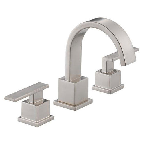 Delta 3553LF-SS Vero Two Handle Widespread Lavatory Faucet - Brilliance Stainless