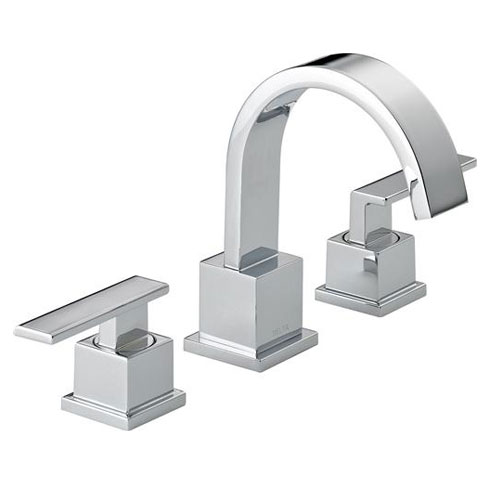 Delta 3553LF Vero Two Handle Widespread Lavatory Faucet - Chrome