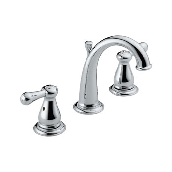 Delta 3575-MPU-DST Leland Two Handle Widespread Lavatory Faucet with Metal Pop Up - Chrome