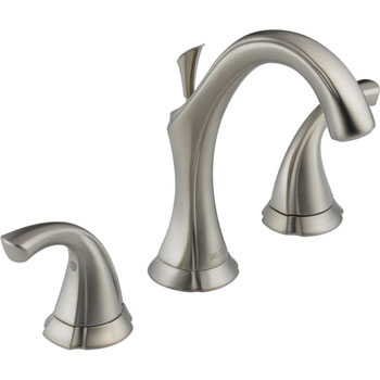 Delta 3592LF-SS Addison Two Handle Widespread Lavatory Faucet - Brilliance Stainless