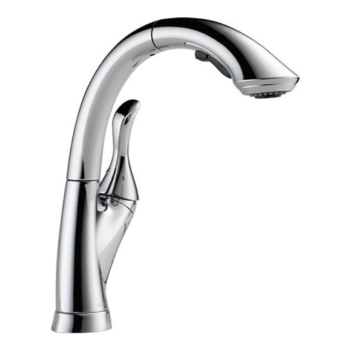Delta 4153-DST Linden Single Handle Pull-Out Kitchen Faucet - Chrome