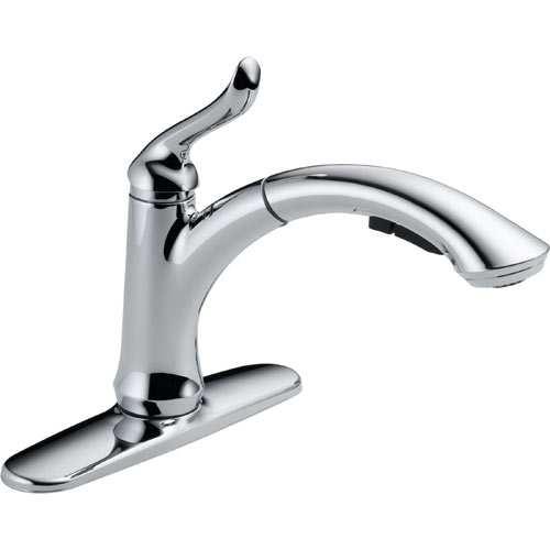 Delta Single Handle Kitchen Faucet Long Lever Handle