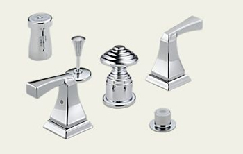Delta 44-SSLHP Classic Bidet Faucet Valves Brilliance Stainless (Pictured in Chrome)