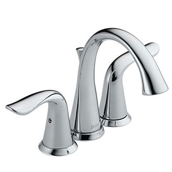 Delta 4538 Lahara Two Handle Mini-Widespread Lavatory Faucet Chrome