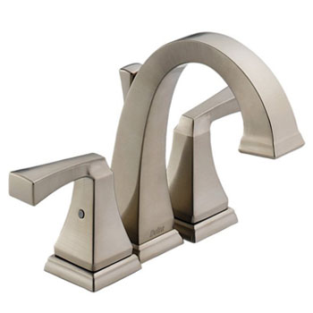 Delta 4551-SS Dryden Two-Handle Mini-Widespread Lavatory Faucet Brilliance Stainless