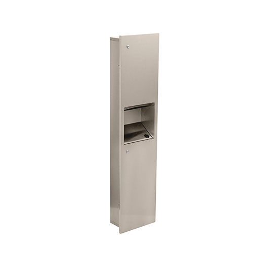 Delta 45569SS Commercial Recessed Towel Dispenser with Waste Receptacle - Stainless Steel