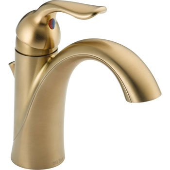 Delta 538-CZMPU-DST Lahara Single Handle Centerset Lavatory Faucet with DIAMOND Seal Technology - Champagne Bronze