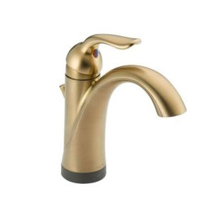 Delta 538T-CZ-DST Lahara Single Handle Lavatory Faucet with Touch2O Technology - Champagne Bronze