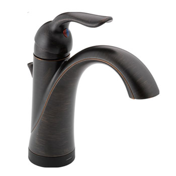 Delta 538T-RB-DST Lahara Single Handle Lavatory Faucet with Touch2O Technology - Venetian Bronze