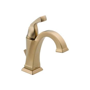 Delta 551-CZ-DST Dryden Single Handle Centerset Lavatory Faucet - Champagne Bronze