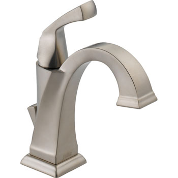 Delta 551-SS-DST Single Handle Lavatory Bathroom Faucet - Stainless Steel