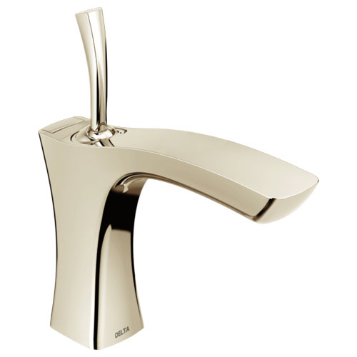 Delta 552LF-PNMPU Tesla Single Handle Lavatory Faucet with Metal Pop-Up - Polished Nickel