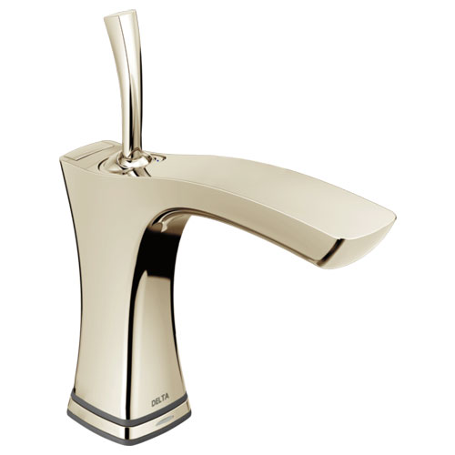 Delta 552TLF-PN Tesla Single Handle Lavatory Faucet with Touch2O.xt Technology - Polished Nickel