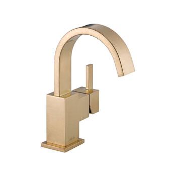 Delta 553lf Cz Vero Single Handle Centerset Lavatory Faucet Champagne Bronze