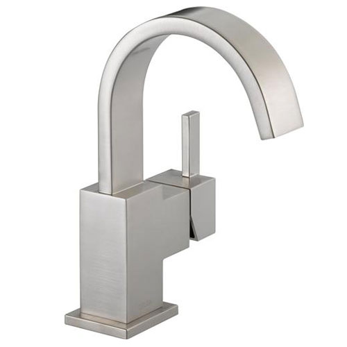 Delta 553LF-SS Vero Single Handle Centerset Lavatory Faucet - Brilliance Stainless