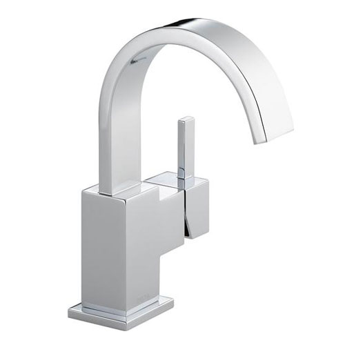 Delta 553LF Vero Single Handle Centerset Lavatory Faucet - Chrome