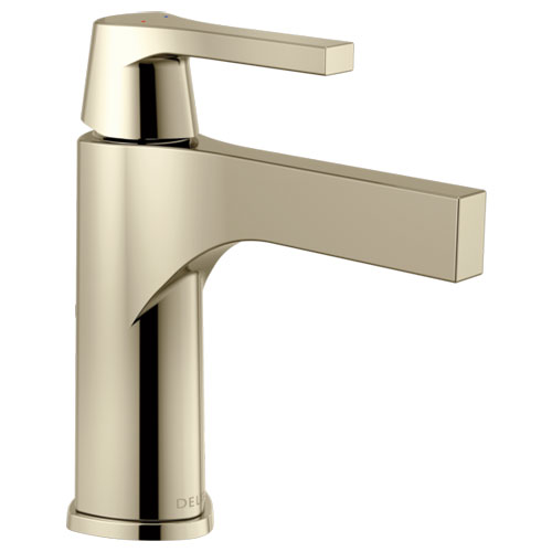 Delta 574-PNLPU-DST Zura Single Handle Lavatory Faucet with Less Pop Up - Polished Nickel