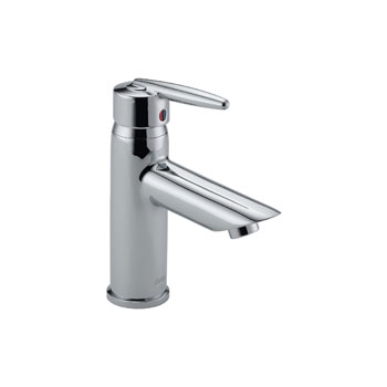Delta 585LF-LPU Grail Single Handle Centerset Lavatory Faucet, Less Pop Up - Chrome