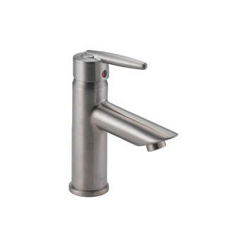 585LF-SSLPU Delta Grail Single Handle Centerset Lavatory Faucet, Less Pop Up - Stainless Steel