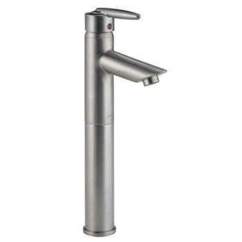 Delta 585LF-VSS Grail Single Handle Vessel Lavatory Faucet Brilliance Stainless