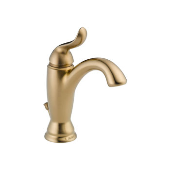 Delta 594-CZMPU-DST Linden Single Handle Lavatory Faucet with Metal Pop Up - Champagne Bronze