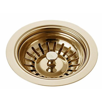 Delta 72010-BB Classic Kitchen Sink Basket Strainer and Flange Brilliance Brass