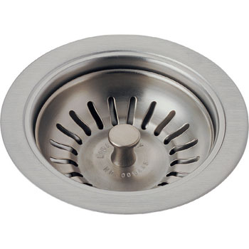 Delta 72010-SS Classic Kitchen Sink Basket Strainer and Flange Brilliance Stainless