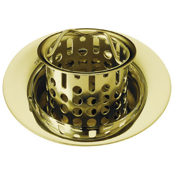 Delta 72011-PB Classic Bar/Prep Sink Basket Strainer and Flange Brilliance Polished Brass