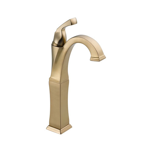 Delta 751-CZ-DST Dryden Single Handle Lavatory Faucet with Riser and DIAMOND Seal Technology - Champagne Bronze