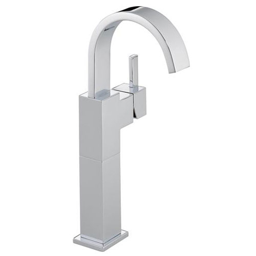 Delta 753LF Vero Single Handle Centerset Lavatory Faucet with Riser, Less Pop-Up - Chrome
