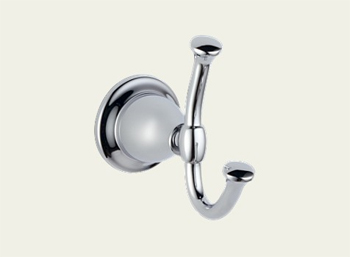 Delta 79035 Lockwood Double Robe Hook Chrome