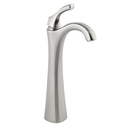 Delta 792-SS-DST Addison Single Handle Centerset Lavatory Faucet with Riser, Less Pop-Up - Brilliance Stainless