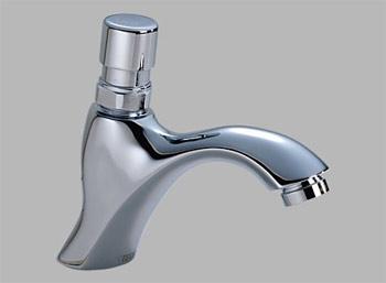 delta commercial 87t104 single hole metering slow close lavatory faucet chrome