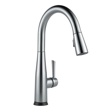 delta 9113tardst essa single handle pulldown kitchen faucet with touch2o tech
