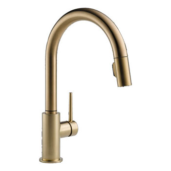 Delta 9159-CZ-DST Trinsic Single Handle Pull-Down Kitchen Faucet - Champagne Bronze