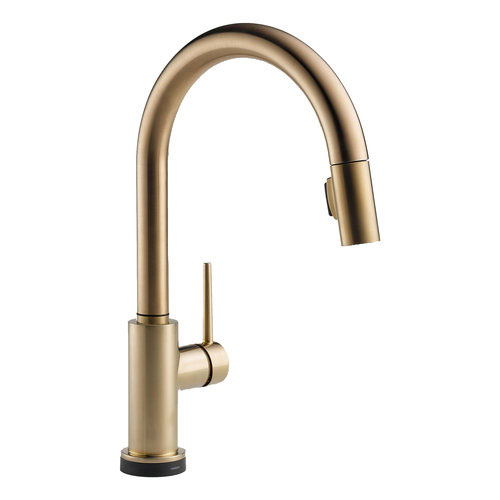 Delta 9159T-CZ-DST Trinsic Single Handle Pull Down Kitchen Faucet Featuring Touch2O Technology - Champagne Bronze