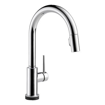 Delta 9159T-DST Trinsic Single Handle Pull Down Kitchen Faucet Featuring Touch2O Technology - Chrome
