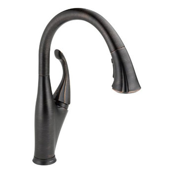 Delta 9192T-RB-DST Addison Single Handle Pull-Down Kitchen Faucet Featuring Touch2O - Venetian Bronze