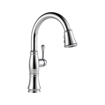 Delta 9197-DST Cassidy Single Handle Pull Down Kitchen Faucet - Chrome