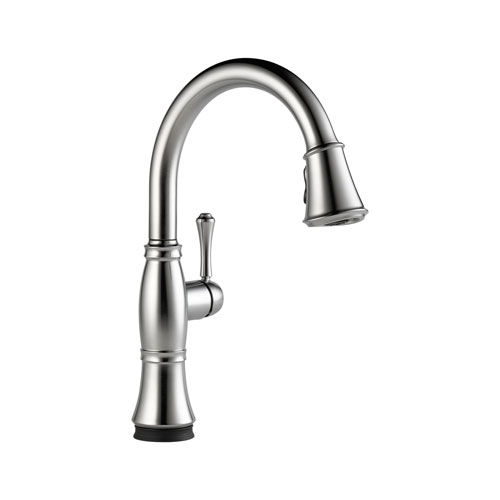 Delta Cassidy Arctic Stainless  Handle Pull Down Kitchen Faucet