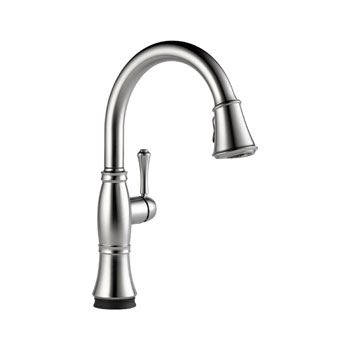 Delta 9197T-AR-DST Cassidy Single Handle Pull Down Kitchen Faucet with Touch2O Technology - Arctic Stainless