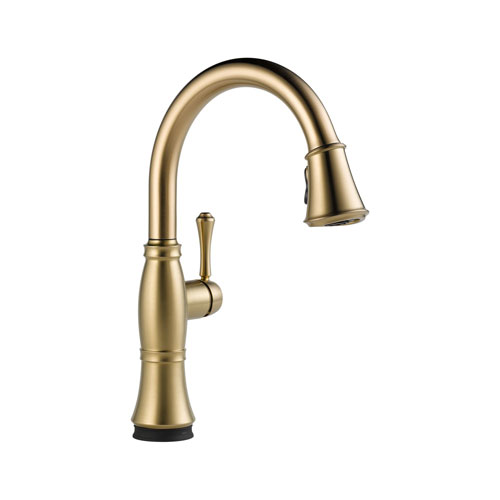 Delta 9197T-CZ-DST Cassidy Single Handle Pull Down Kitchen Faucet with Touch2O Technology - Champagne Bronze