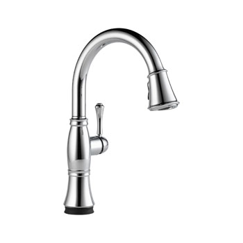 Delta 9197T-DST Cassidy Single Handle Pull Down Kitchen Faucet with Touch2O Technology - Chrome