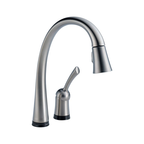 Delta Pilar Single Handle Kitchen Faucet With Spray Home Depot