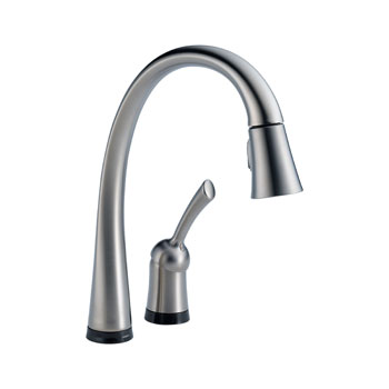 Delta 980T-AR-DST Pilar Single Handle Pull-Down Kitchen Faucet with Touch2O Technology - Arctic Stainless