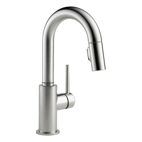Delta 9959-AR-DST Trinsic Single Handle Pull-Down Bar/Prep Faucet - Stainless