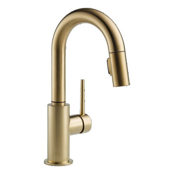 Delta 9959-CZ-DST Trinsic Single Handle Pull-Down Bar/Prep Faucet - Champagne Bronze